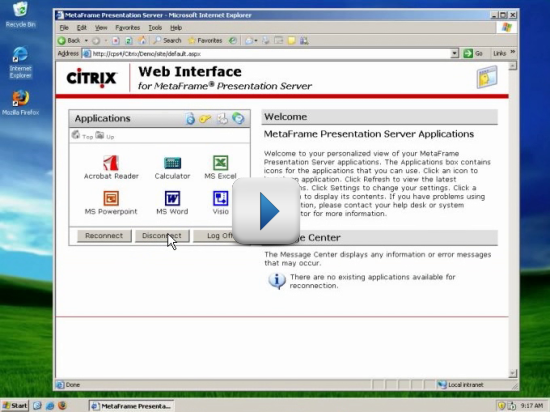Citrix Hosting Demo Video